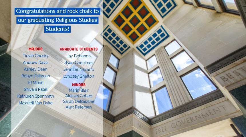 Congratulations and rock chalk to our graduating students!